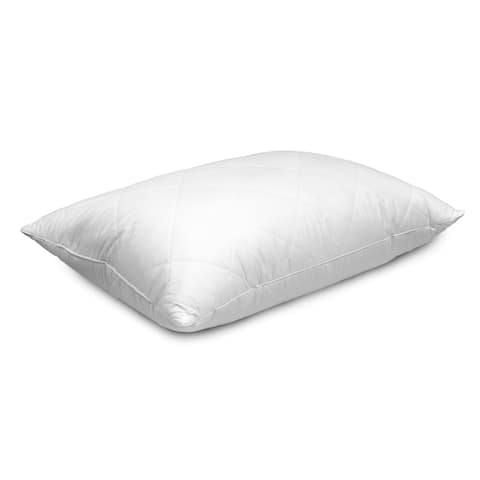 Hotel Grand Quilted Cover White Goose Feather And Down Pillow