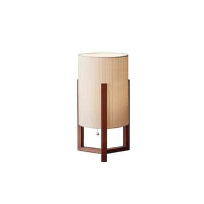 Carson Carrington Riga Walnut Table Lantern