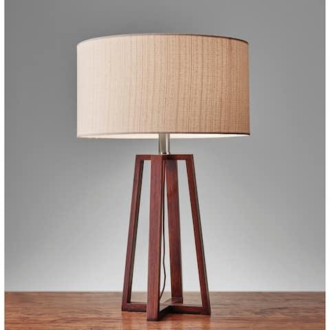 Carson Carrington Riga 24-inch Walnut Table Lamp