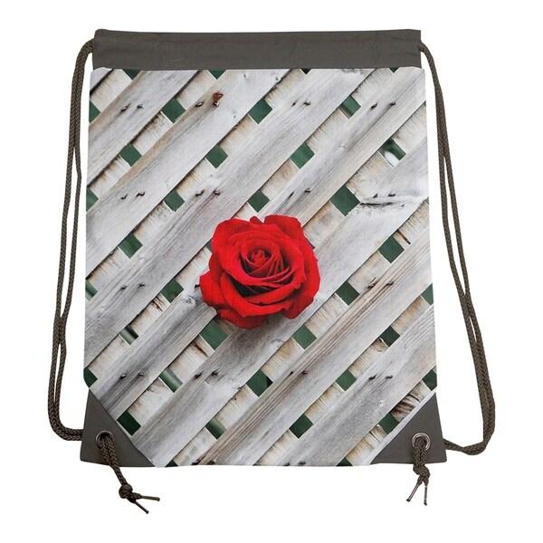 931ac243b7 Katelyn Smith Fence Rose Drawstring Gym Bag - Drawstring Gym Bag