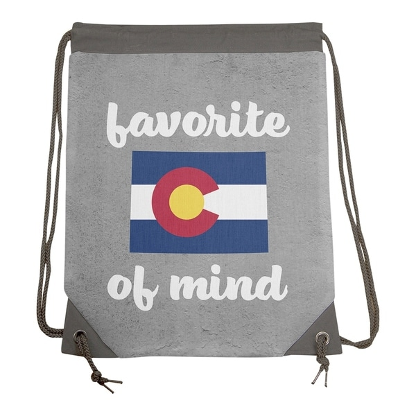 Shop Katelyn Smith Colorado State of Mind Drawstring Gym Bag - Drawstring Gym  Bag - Free Shipping Today - Overstock.com - 26871626 56d2f53cdd6bc