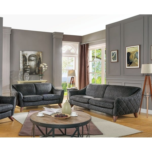 Shop Drochia Contemporary Sofa & Loveseat Set Upholstered in Vintage ...