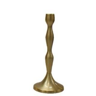 """Elegance Brushed Gold Candle Holder - 11.5"""""""