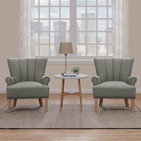 Carson Carrington Hedmark Rolled Arm Chair (Set of 2)