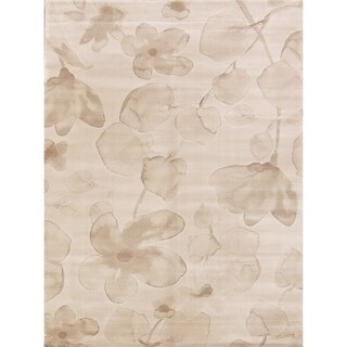 "Belgium Floral Modern Acrylic And Polyester Oriental Area Rug - 5'2"" x 7'3"""