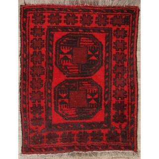 "Vintage Balouch Afghanistan Geometric Handmade Wool Oriental Area Rug - 2'6"" x 1'11"""
