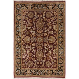 """Agra Indian Floral Hand Made Wool Oriental Area Rug - 6'0"""" x 4'1"""""""