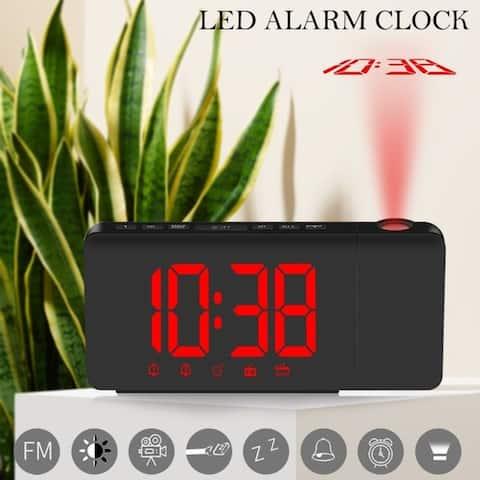 LED Radio Projection Clock FM Radio Creative Fashion Alarm Clock