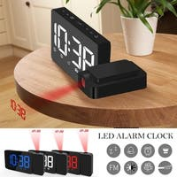 LED Radio Projection Clock FM Radio Creative Fashion Alarm Clock