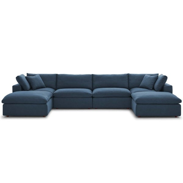 Copper Grove Hrazdan Down-filled Over-stuffed 6-piece Sectional Sofa Set