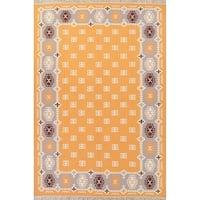 "Kilim Indian Geometric Hand Woven Wool Oriental Area Rug - 12'0"" x 8'3"""