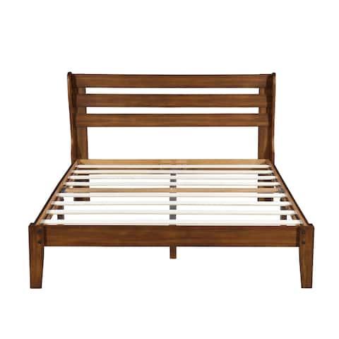 Sleeplanner Wood Platform Bed with Headboard, King 40SF01K