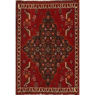 "Abadeh Geometric Hand Made Wool Persian Area Rug - 12'5"" x 2'2"" Square"