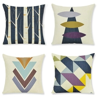 Geometric Mountains Decorative Throw Pillow Covers