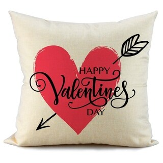Heart and Arrow Decorative Cushion Cases