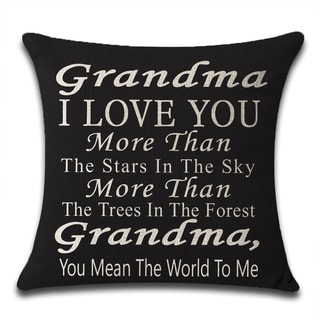 You Mean The World To Me Cotton Linen Pillow Cases