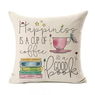 Inspirational Quote Cotton Linen Throw Pillow Case