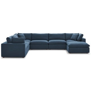 Copper Grove Hrazdan Down-filled Over-stuffed 7-piece Sectional Sofa Set