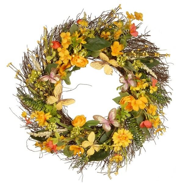 "24"" Decorative Spring Wreath"