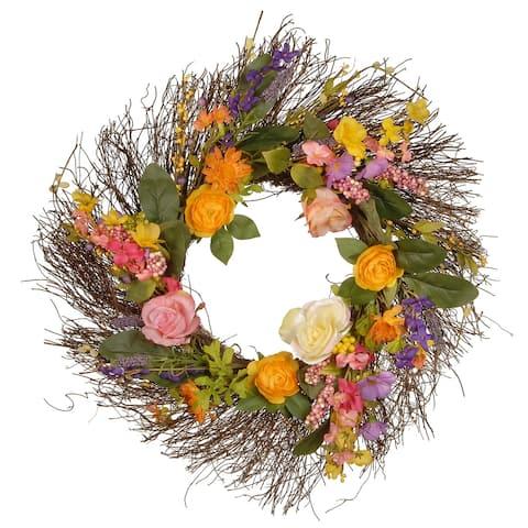 """24"""" Spring Wildflower Wreath"""