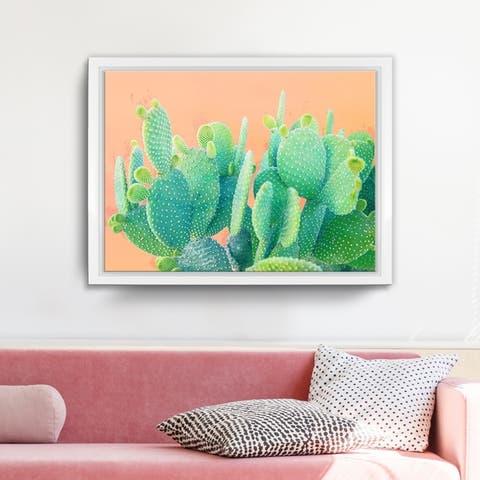 Ready2HangArt 'Cacti Dream' Framed Succulent Canvas Wall Art