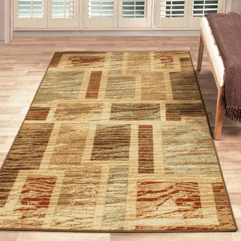 Superior Ammar Geometric Patchwork Area Rug