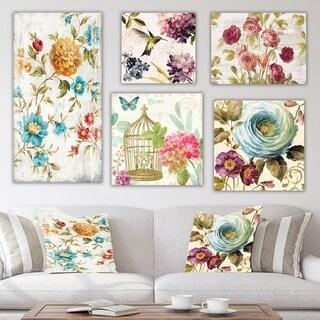 Designart 'Kolibri Collection' Traditional Wall Art set of 5 pieces - Multi-Color