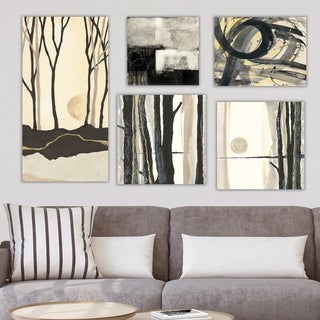 Designart 'Abstract Forest Collection' Abstract Wall Art set of 5 pieces - Multi-Color