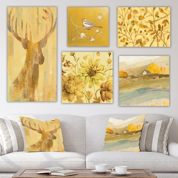 Designart 'Farmhouse Collection' Traditional Wall Art set of 5 pieces - Multi-color