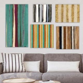 Designart 'Geometrical Collection ' Abstract Wall Art set of 5 pieces - Multi-Color