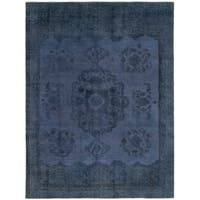 eCarpetGallery  Hand-Knotted Color Transition Dark Blue Wool Rug - 8'4 x 11'0