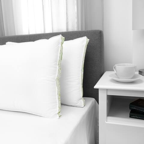 EcoPEDIC Firm Density Bed Pillow with Cotton Cover - 2 Pack - White