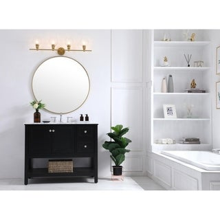 Link to Gwyneth 4-Light Clear Glass Wall sconce Similar Items in Bathroom Vanity Lights