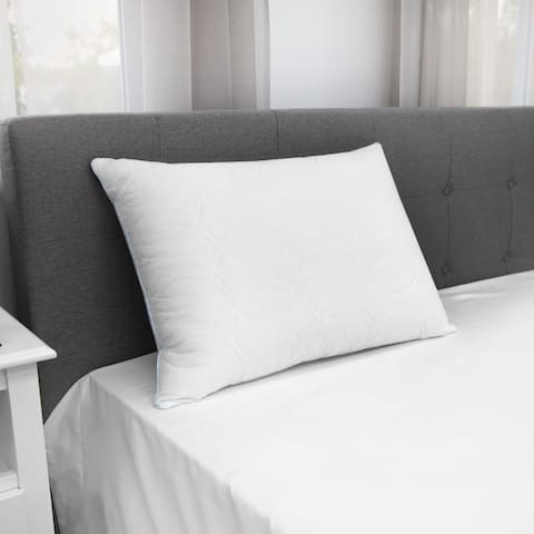 EcoPEDIC Quilted Fiber Pillow with Gel-Infused Memory Foam Core - White