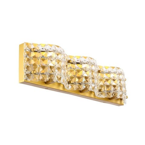 Odette 3-Light Clear Crystals Wall Sconce