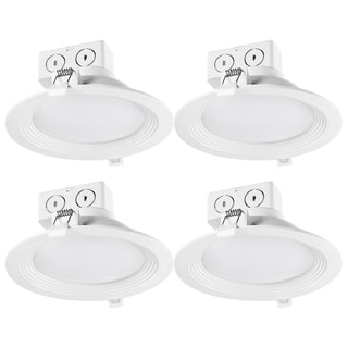 Link to 6 in. White Integrated LED Recessed Lighting Kit (4-Pack) Similar Items in Recessed Lights
