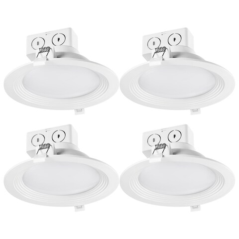 6 in. White Integrated LED Recessed Lighting Kit (4-Pack)