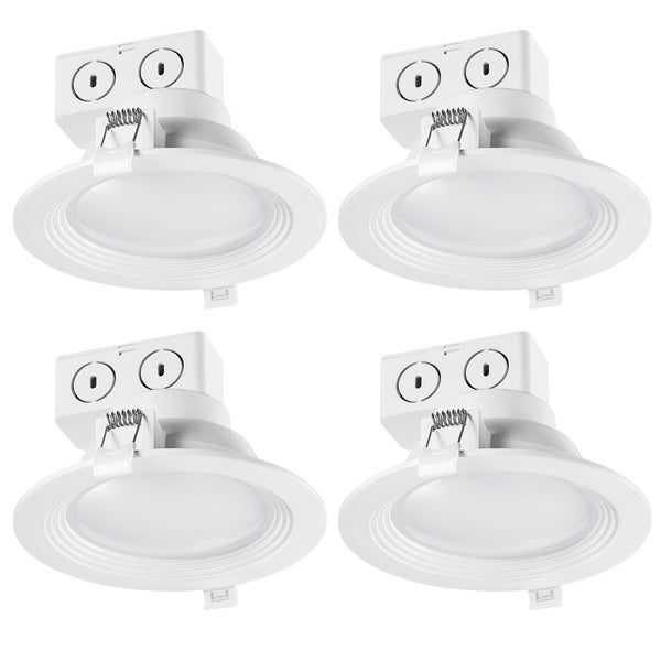 5 in. White Integrated LED Recessed Lighting Kit (4-Pack). Opens flyout.