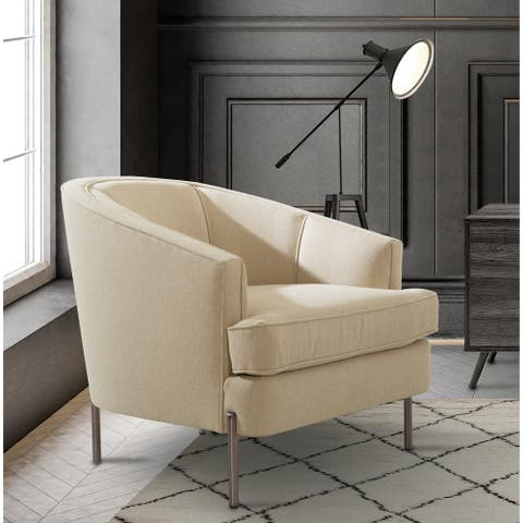 Chic Home Philo Barrel Back Linen-textured Upholstery Club Chair