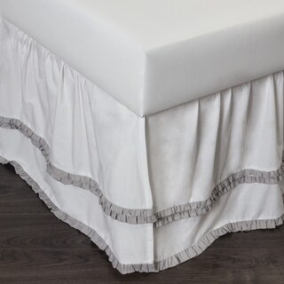 Cottage Home Petra Ruffle Grey Cotton Bed Skirt