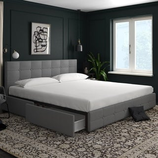 Avenue Greene Romeo Linen Upholstered Bed with Storage
