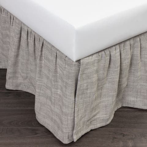 Cottage Home Lennord Grey 3 Piece Tuck in Bed Skirt