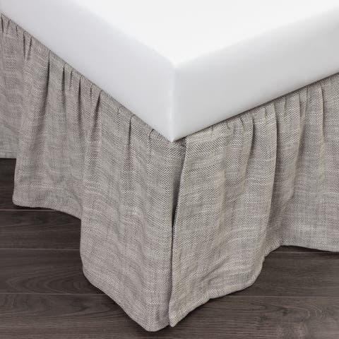 Cottage Home Lennord Grey Linen Bed Skirt