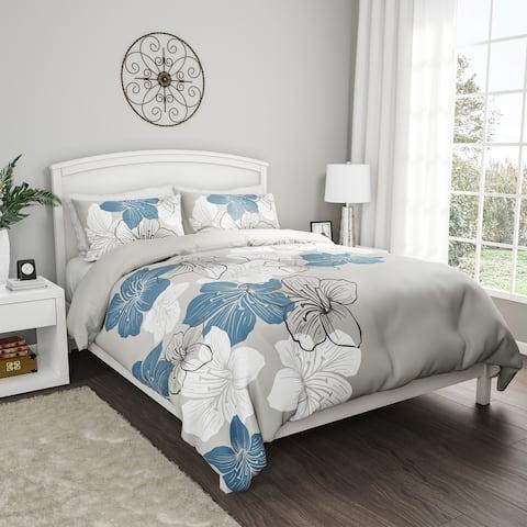 Porch & Den Gage Floral Print Hypoallergenic Microfiber/ Polyester 3-piece Comforter Set with Shams