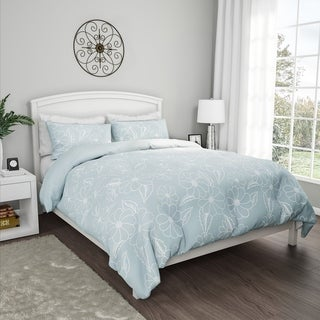 "3-Piece Comforter Set- ""Jardin"" Hypoallergenic Polyester Microfiber Floral Print with Shams by Windsor Home"