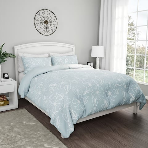 """3-Piece Comforter Set- """"Jardin"""" Hypoallergenic Polyester Microfiber Floral Print with Shams by Windsor Home"""