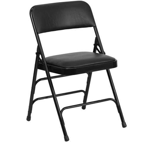 Hodedah Folding Chair in Black