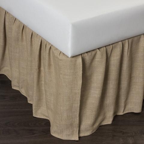 Cottage Home Lennord Natural Linen Bed Skirt