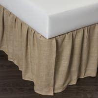 Cottage Home Lennord Natural Linen Bed Skirt