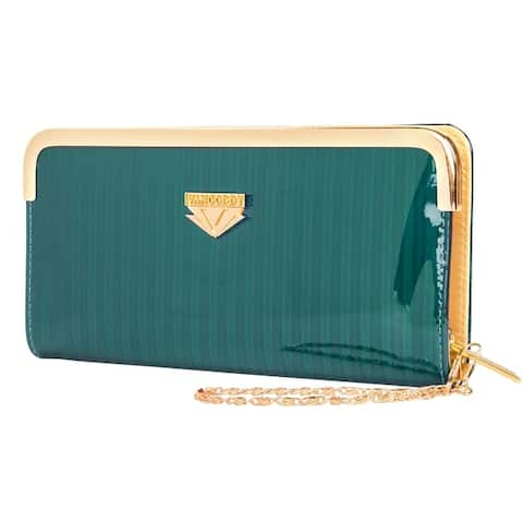 Lady Wallet Clutch with Detachable Chain Wristlet - S